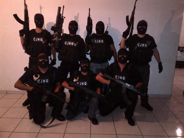 Miembros del cartel de Jalisco Nueva Generación (CJNG).
