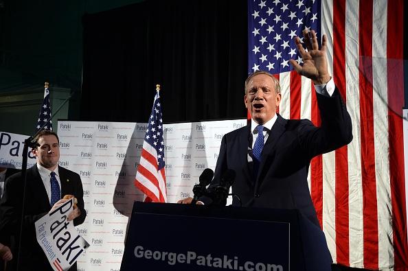 George Pakati, exgobernador republicano de Nueva York, anunció su precandidatura para la Casa Blanca en 2016.