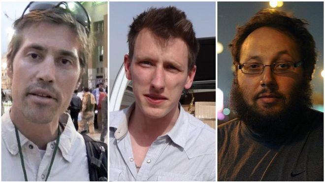 James Foley, Abdul-Rahman Kassig y Steven Sotloff son tres de los rehenes que murieron a manos de Estado Islámico.