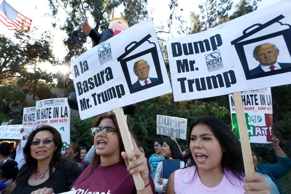 Donald Trump llega a Los Ángeles y con él viene la controversia