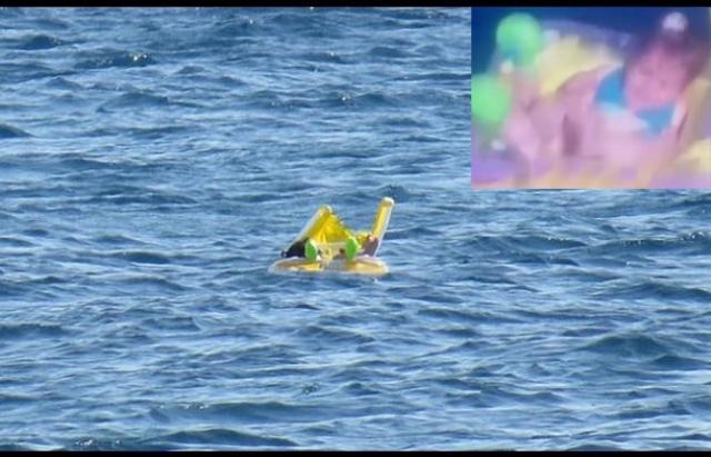 Bebé es rescatada después de flotar sola, a la deriva, en el mar de Turquía (VIDEO)