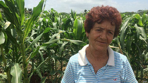 Elida Diaz trabaja en la 'Finca la Caridad'.