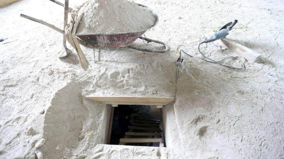 Imágenes del túnel por donde fugó El Chapo Guzmán