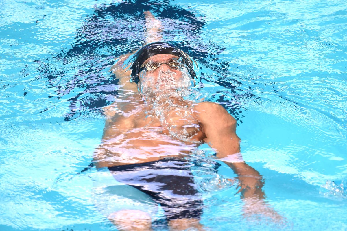 El nadador mexicano Mateo González durante una competencia en el Mundial de Kazán, Rusia.