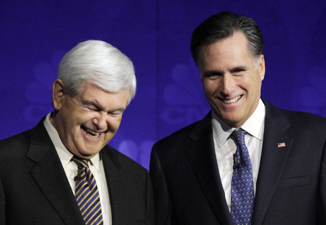 Se intensifican  los choques   entre Romney y Gingrich