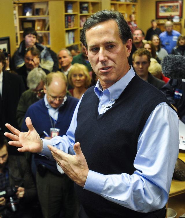 Santorum vuelve a casa cansado y sin fondos