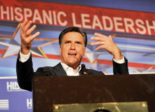 Romney con sólida delantera