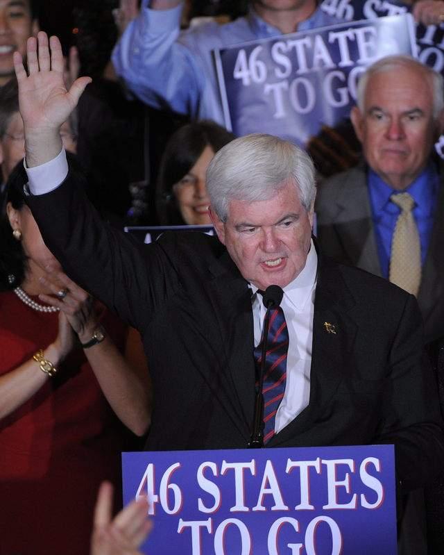 Gingrich enfila  cañones a Nevada