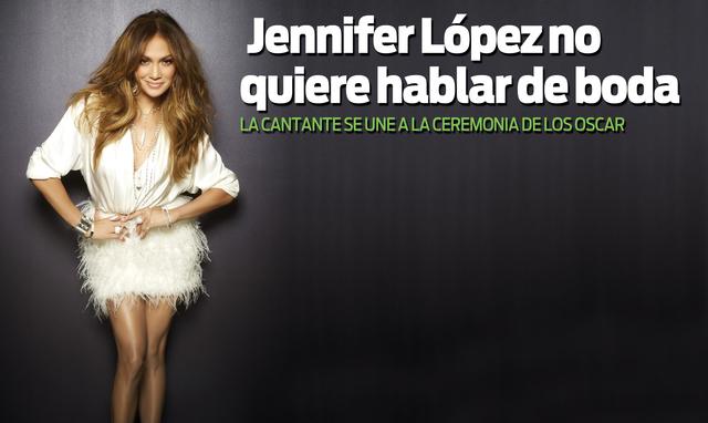 No quiere hablar de boda Jennifer López