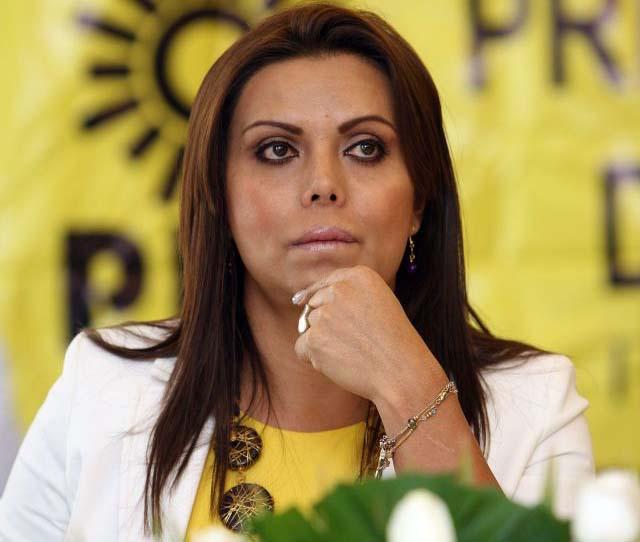 La primera mujer transexual precandidata a ocupar un escaño en el congreso local de la capital mexicana, Diana Sánchez Barrios.