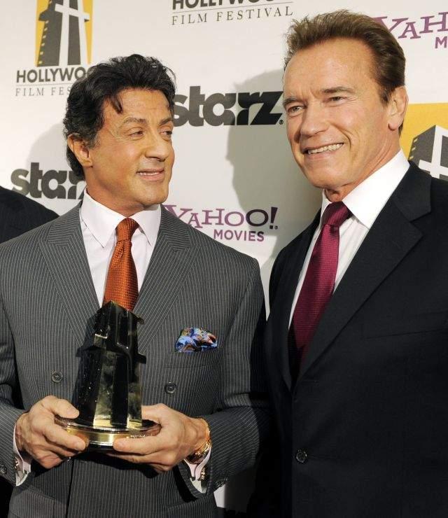 Schwarzenegger y Stallone son inseparables