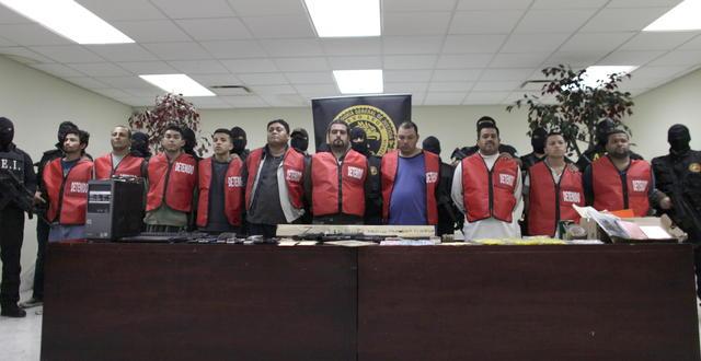 Capturan a diez presuntos sicarios   Zetas