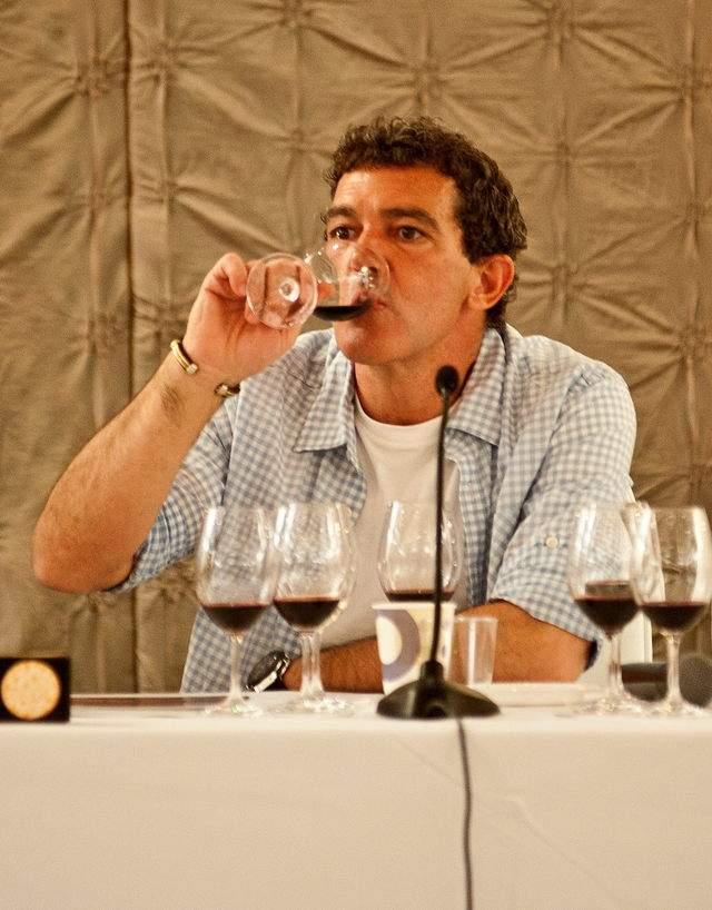 Antonio Banderas durante la cata de sus vinos que tuvo lugar en Miami.
