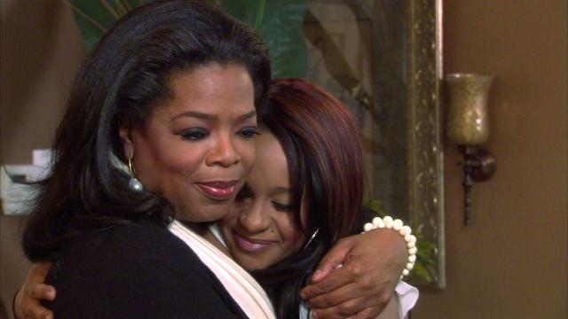 Oprah Winfrey y Bobbi Kristina durante la grabación del especial.