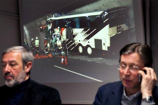 Problemas identificando víctimas del accidente en Suiza
