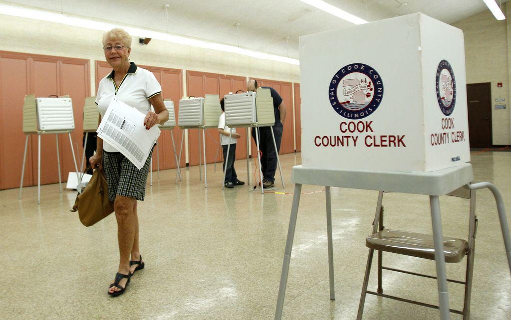 Poca asistencia en las primarias de Illinois