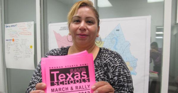 Organizan marcha por la educación en Texas