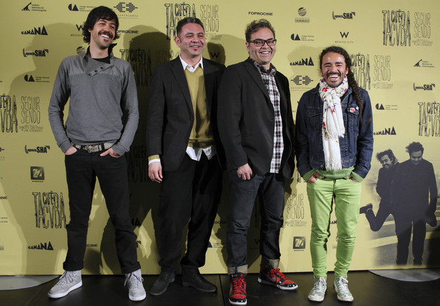 Integrantes de la banda mexicana de rock, Café Tacuba. De izquierda a derecha: Emanuel del Real, Kike Rangel, Joselo Rangel y Rubén Albarran.
