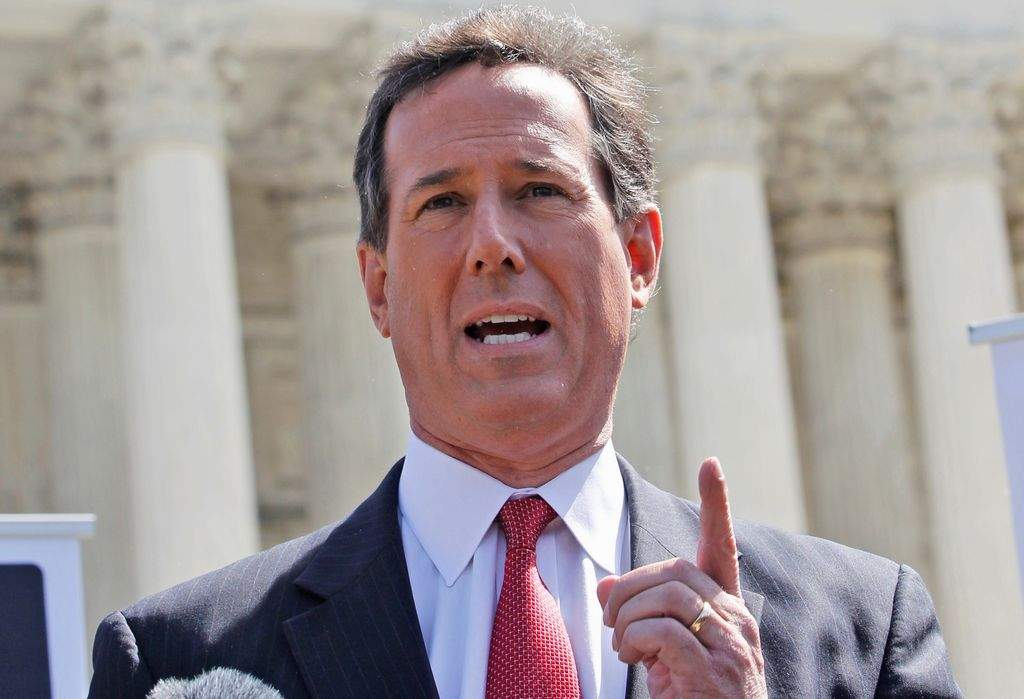 Santorum cava su propia tumba