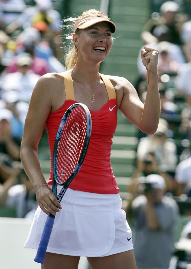 María Sharapova pasa a la final en Miami  Sharapova  es finalista