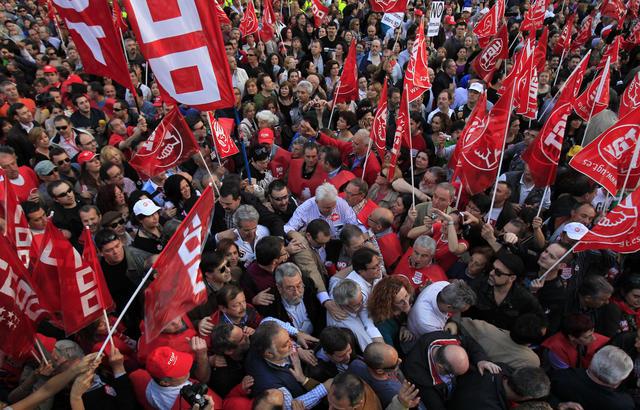Miles de españoles salieron a protestar