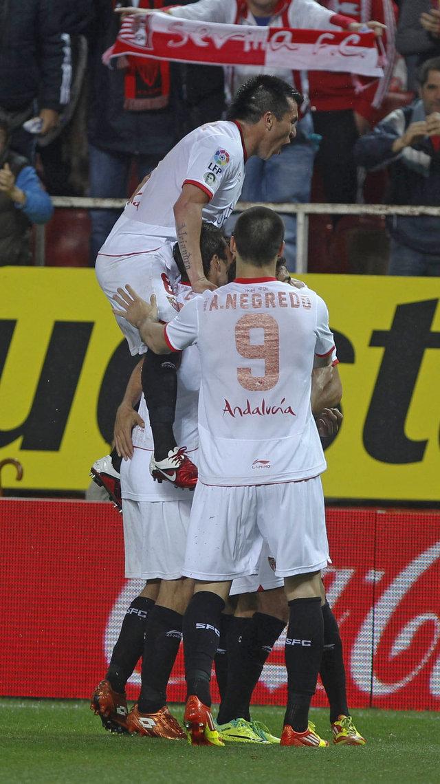 Convence  y gana el Sevilla de Michel   Convence  y gana el Sevilla de Michel