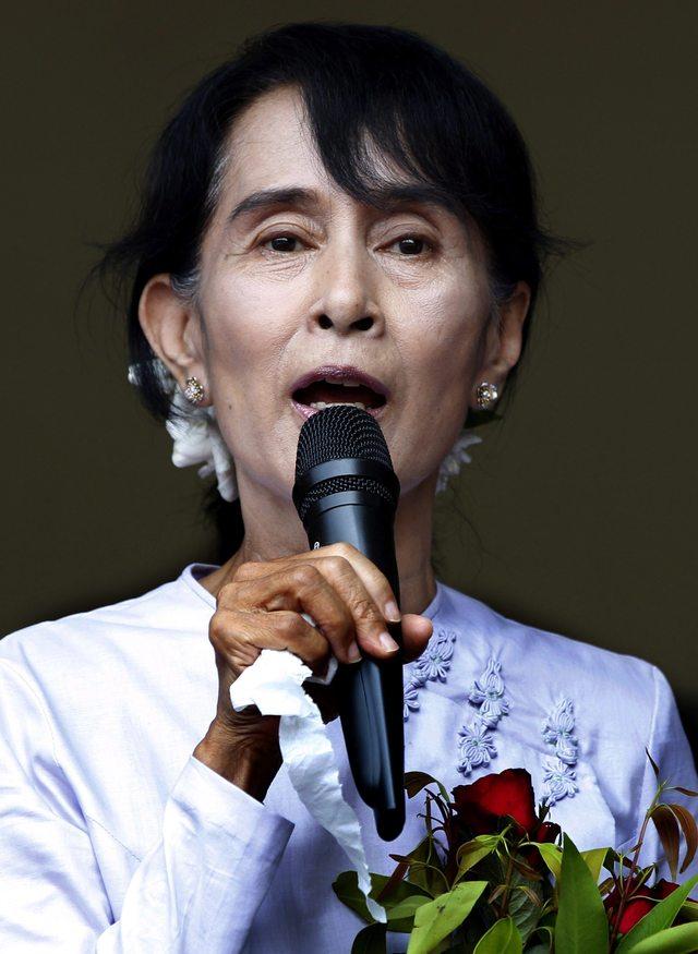 Suu Kyi da su discurso de la victoria