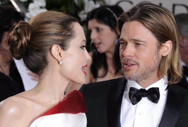 Los actores estadounidenses Angelina Jolie y Brad Pitt.