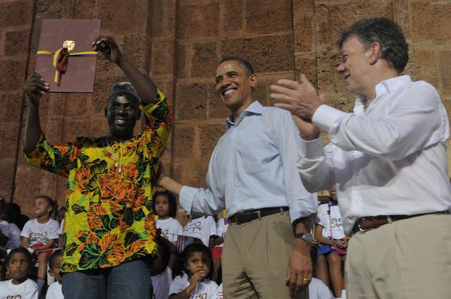 Barack Obama, EEUU, y Juan Manuel Santos, Colombia, acordaron  ayudar a países centroamericanos contra el crimen.
