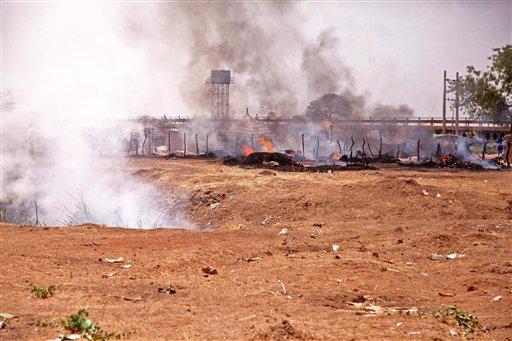 Cazas sudaneses bombardearon Bentiu, territorio sursudanés, el sábado pasado.