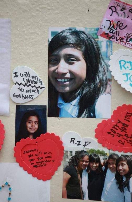 Joanna Ramos en foto familiar. La niña de 10 años murió el mes pasado tras  una riña con otra menor.