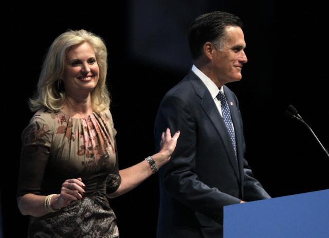 Ann & Mitt Romney.