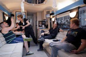 Autobús combate resaca en Las Vegas