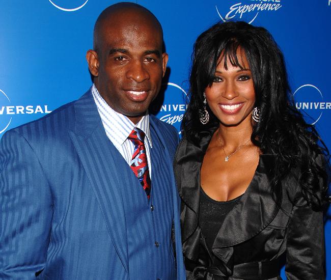 Pilar y  Deion Sanders,  exjugador de la NFL.