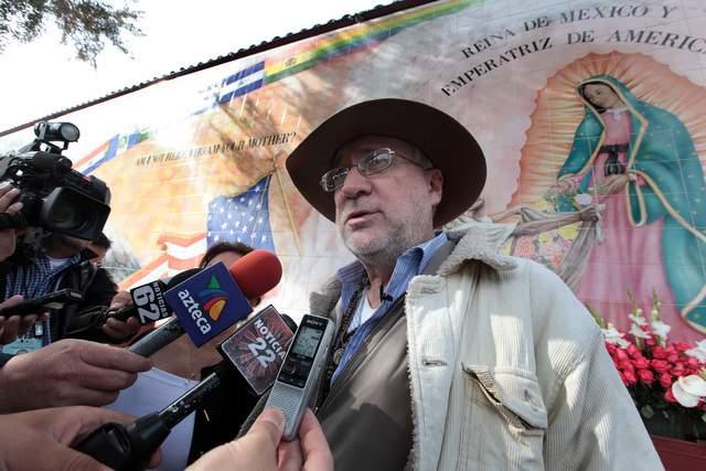 El poeta mexicano Javier Sicilia, realizó una conferencia de prensa para anunciar la Caravana internacional por la paz.