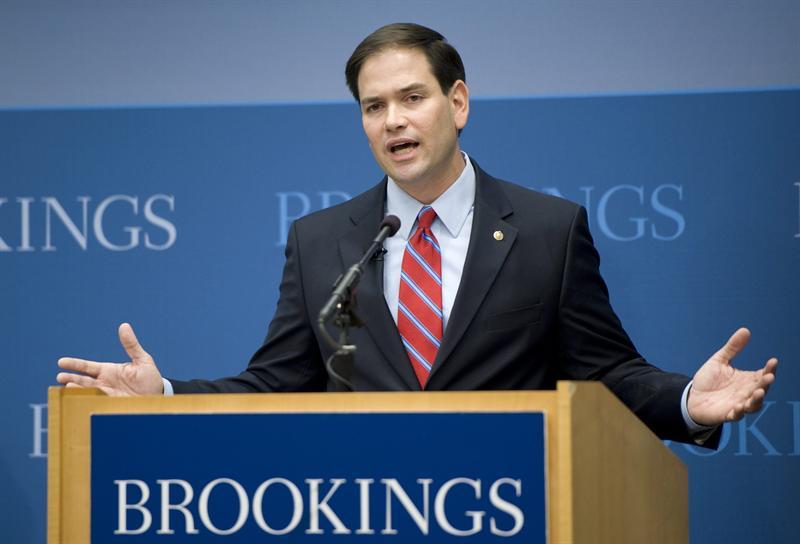 El senador Marco Rubio da un discurso sobre el futuro de la política exterior estadounidense.