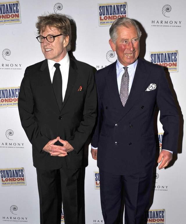 Robert Redford y el príncipe Carlos el sábado en la presentación del festival en Londres.