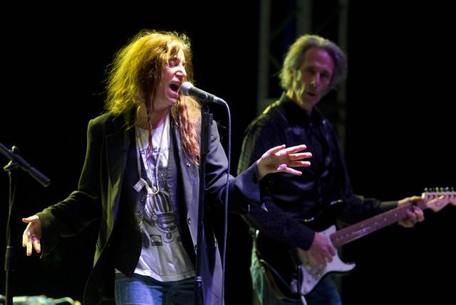 Patti Smith durante su actuación del sábado en el DF.