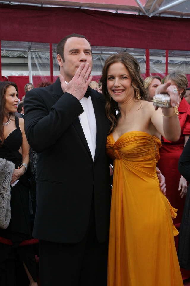 John Travolta y Kelly Preston.