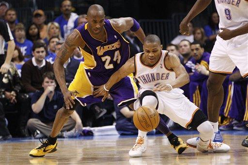 NBA: Thunder 119, Lakers 90