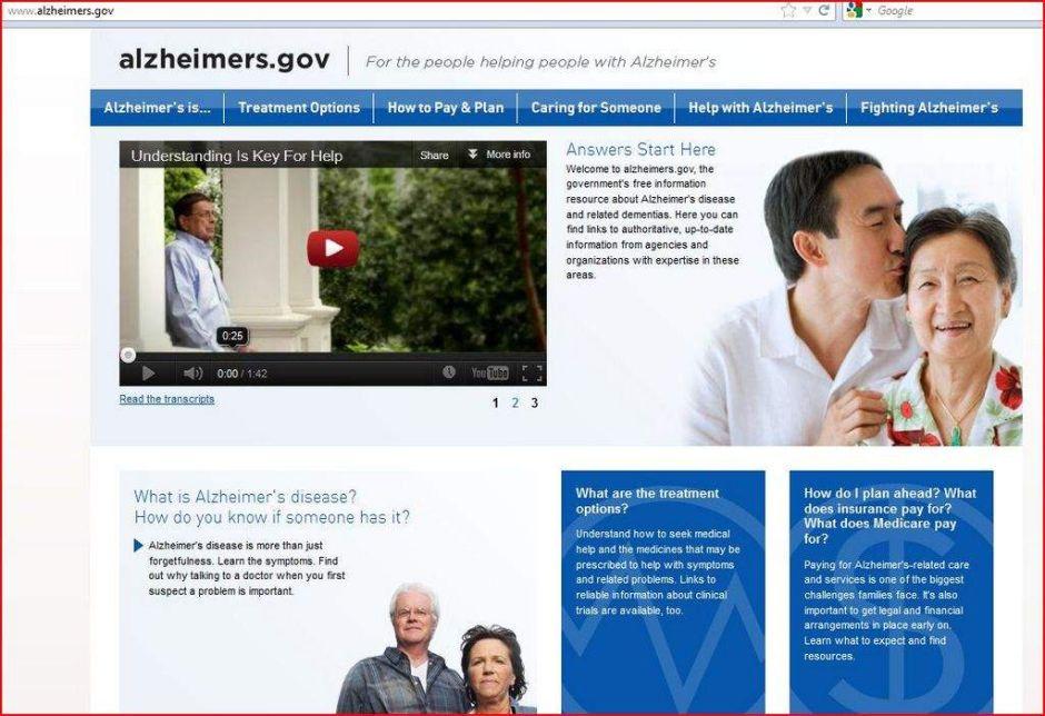 Sitio web brinda información útil sobre Alzheimer