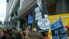 Protestas por  financiamiento de prisiones para inmigrantes