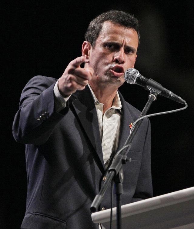 El dirigente opositor, el candidato Enrique Capriles.