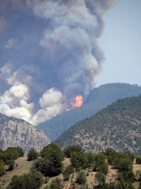 El humo ha alcanzado ciudades tan lejanas como Albuquerque y Santa Fe.