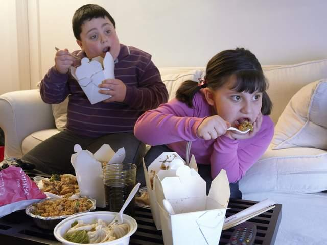 Comer comida chatarra es una de las causas de obesidad entre niños.