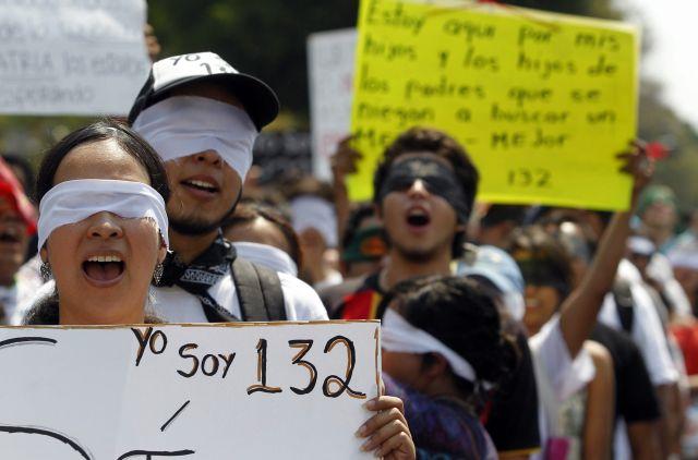 Debate presidencial marcado por protestas