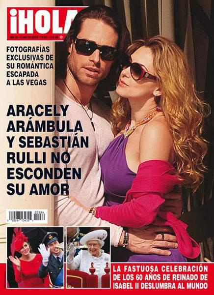 Aracely Arámbula y Sebastián Rulli en portada para Hola.