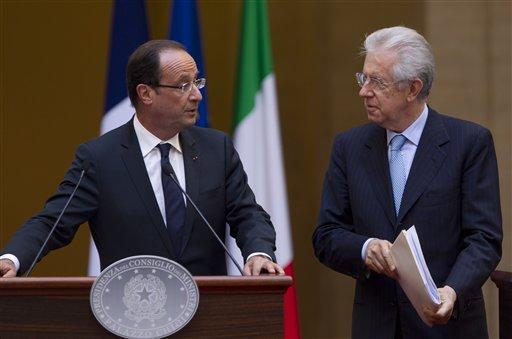El presidente francés también se reunirá con el presidente italiano, Giorgio Napolitano.