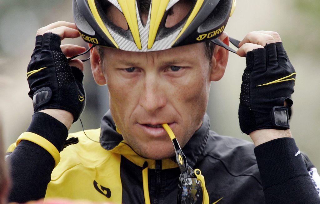 Foto de archivo de Lance Armstrong.