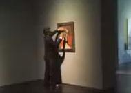 Captan en video vandalismo a obra de Picasso en museo en Houston (video)